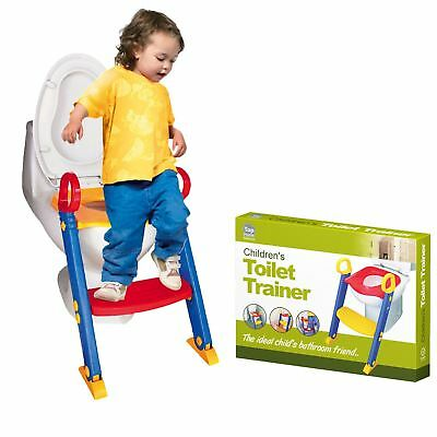 New Baby Toddler Training Toilet Seat Safety Potty Step Ladder Loo Trainer Syste