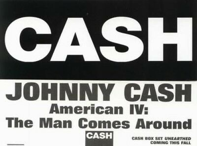 Johnny Cash 2002 Man Comes Around promotional sticker New Old Stock Mint Cond