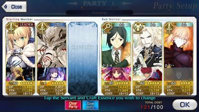 FGO / Fate Grand Order NA English Global Account Waver NP2 Arturia  Vlad  + 11SR
