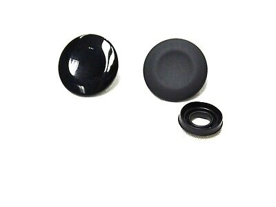 AUDI A3 A4 A5 A6 Q3 Q5 MATT BLACK WHEEL NUT BOLT COVERS CAPS LOCKING 17mm x20 11