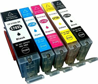 5 Non-OEM For Canon Pixma PGI570XL CLI571XL TS5051 TS5053 TS5055 Ink Cartridges