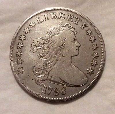1798 Draped Bust Silver Dollar - Rare Early Silver Dollar