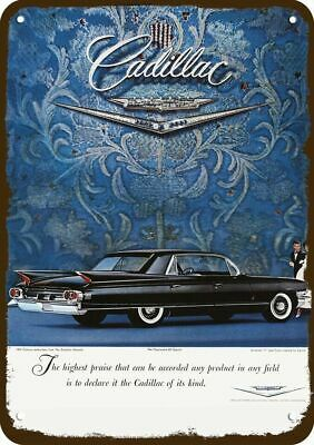 1960 CADILLAC FLEETWOOD 75 LIMOUSINE Black Car Vintage Look REPLICA METAL SIGN
