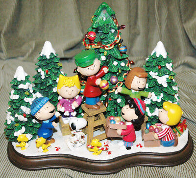 danbury mint peanuts charlie brown christmas time is here figurine lights up