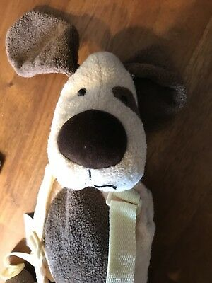 Eddie Bauer 2-1 Harness Buddy Plush Puppy Dog Backpack Toddler Safety Leash