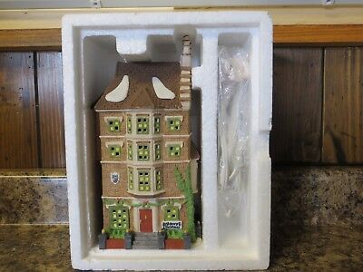 "Dept 56 Dickens Village Christmas Carol Series ""Nephew Fred's Flat"" Issued 1991"