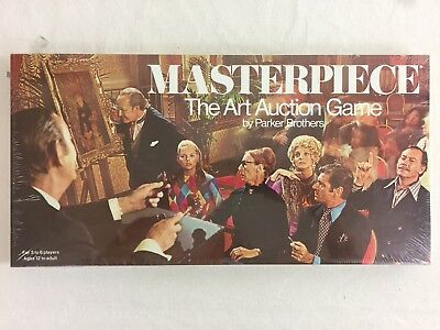Masterpiece The Art Auction Board Game Parker Brothers 1970 Sealed NEW