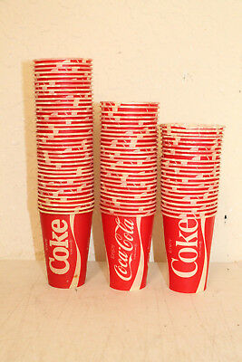 Lot of 76 Vintage Original NOS Coke Coca Cola Wax Cups
