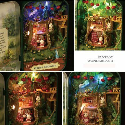 Christmas DIY Handcraft Miniature Project Kit Dolls House Tin Box Theatre Series