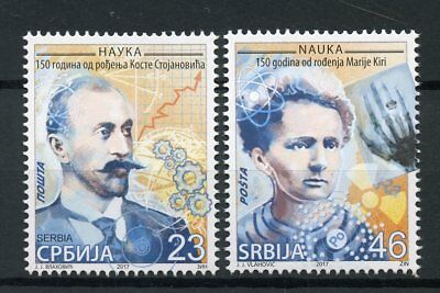 Serbia 2017 MNH Marie Curie Kosta Stojanovic 150th Birth 2v Set Science Stamps