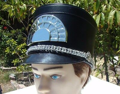 Marching Band Hat Black with silver tones free shipping  Different Sizes