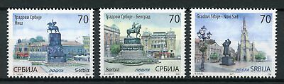 Serbia 2017 MNH Cities Novi Sad 3v Set Statues Architecture Tourism Stamps