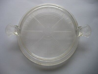 """Vintage Fire King Clear Glass Trivet - Hot Plate - Casserole Stand - 8 1/4"""""""