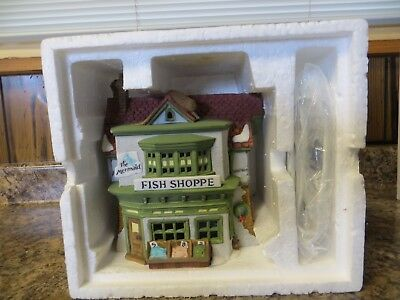 "Dept 56 Dickens Village Merchant Shops Series ""The Mermaid Fish Shoppe""   1988"
