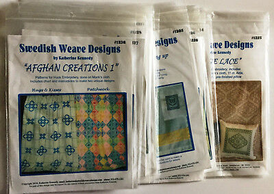 Variety Swedish Weave Designs for Huck Embroidery by Katherine Kennedy Choose