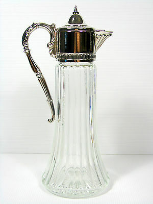 Vintage Raimond Decanter Pitcher, Silverplate, Made in Italy H 30 cm