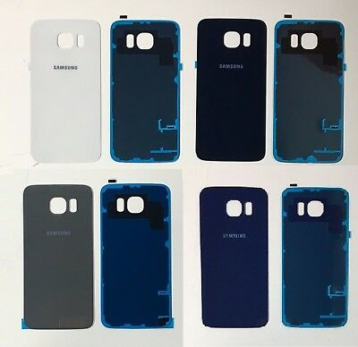 Replacement Samsung Galaxy S6 SM-920F Rear Glass Back Battery Cover + Adhesive