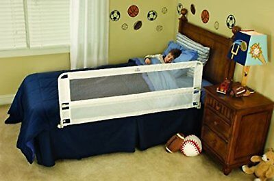Hide Away Extra Long Bed Rail White Child Protection Safety Sleep Barrier Regalo