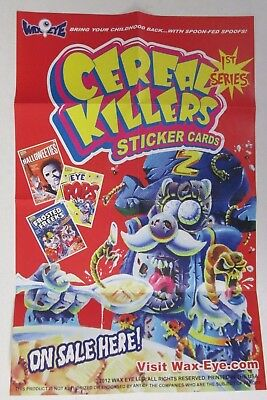 "Cereal Killers 1St Series Cards Mini Poster Joe Simko Art 11"" X 16"" Ala Wacky Pk"