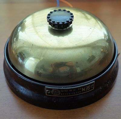 L Vintage Bakelite Brass Electric Door Butler Alarm Industrial Bell Siren France