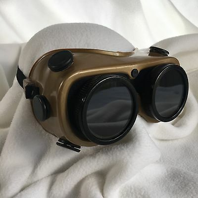 Vintage Welding Goggles Steam Punk Apocalyptic Real Glass Authentic Glendale