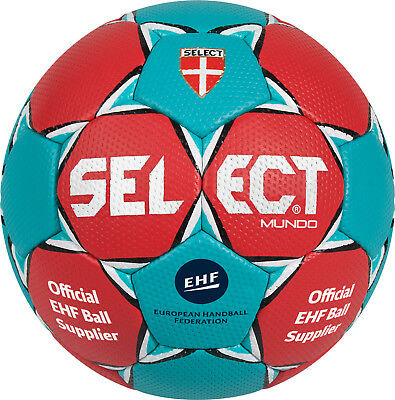 Select Handball Mundo rot/türkis - Gr. 0 (Mini) - Trainingsball,  UVP EUR 19,99