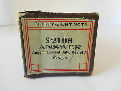 ANSWER (accompaniment) - Eighty-Eight Note Player Piano Roll S 2106 - XLNT COND