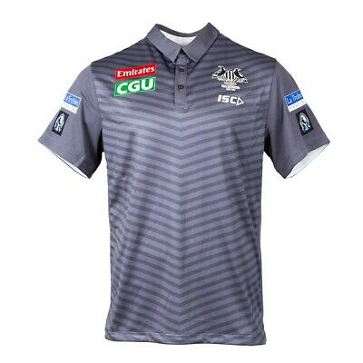 Collingwood Magpies 2017 Chevron Polo Shirt Mens and Ladies Sizes BNWT
