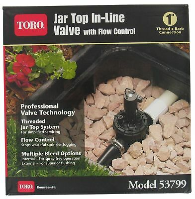 "Toro Irrigation Jar Top Valve With Flow Control 1 "" Boxed Pack 1"