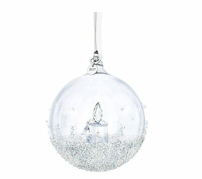 Christmas Ball Swarovski Ornament Annual Crystals Annual Edition New Set White
