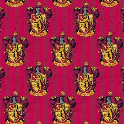 Harry Potter House Crest Gryffindor Cotton Quilting fabric 1/2 YARD