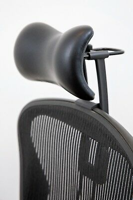 Atlas Headrest for Herman Miller Aeron Chair - Synthetic Leather and Knobs