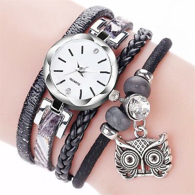 Fashion Women Girl Stainless Steel Rhinestone Bracelet Quartz Dress Wrist Watch
