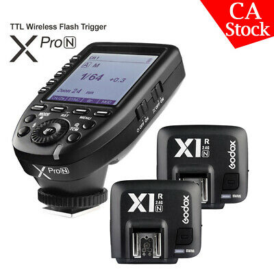 Godox XPro-N 2.4G TTL Wireless Flash Trigger+2* X1R-N Receiver For Nikon Camera