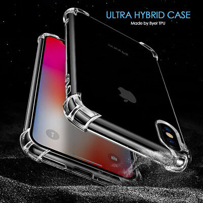 For iPhone X 6S 7 8 Plus 5 Case Shock Proof Ultra Hybrid Clear Heavy Duty Cover