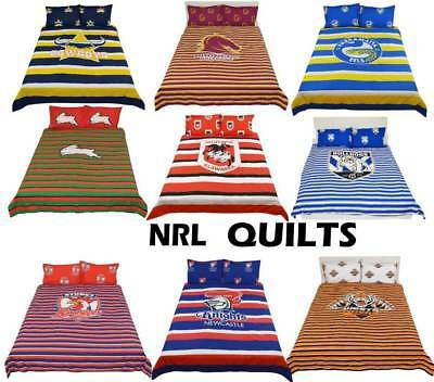 NRL Official Quilt / Duvet Doona Cover Set 'Select Size' Single Double Queen