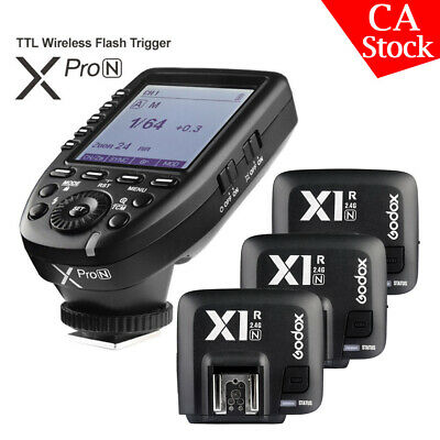 Godox XPro-N 2.4G TTL Wireless Flash Trigger+3*X1R-N Receiver For Nikon Camera