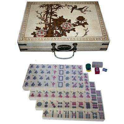 Mahjong Set in Deluxe Oriental Painted Case New (MJ-EW)