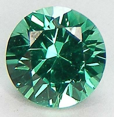 Excellent Round Brilliant Cut 6 Mm. Lab Created Nanocrystal Emerald