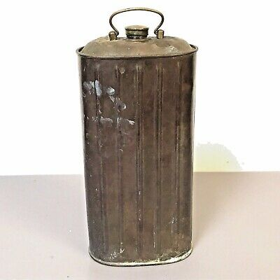 """Antique English Copper Carriage Foot Warmer Bottle 11"""""""
