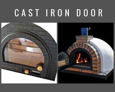 Wood Fired Pizza Oven Cast Iron Glass Door Diy Wood Fired Pizza