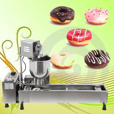 3 Set Mold Commercial Automatic Donut Maker,donut Making Machine,Wider Oil Tank