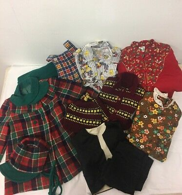 VTG Lot of Assorted Children's Clothing, Winter, Early Silk Suit, Dress, Etc