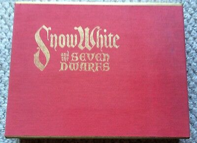 Disney Snow White &The Seven Dwarfs Book Animation Art With Four Serigraph Cels