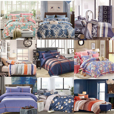 2019 New Design All Size Bed Quilt Duvet Cover Pillowcase Set 100% Cotton