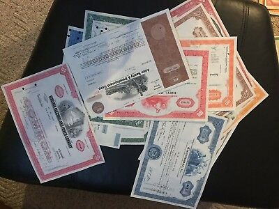 Vintage 44 different Circulated stock & bond certificates