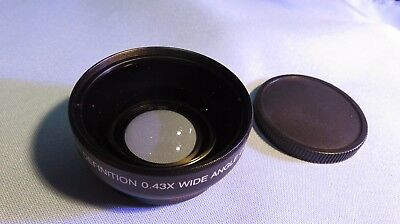 Vivitar ~ HD4 MC AF high definition 0.43x wide angle converter w/ macro Japan