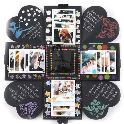AU DIY Box Memory Scrapbook Photo Album Stamps Craft Kits Anniversary Gift Party
