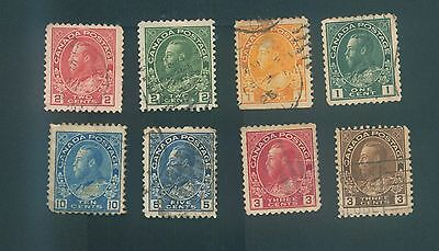 Canada 1911-1925 King George V various used stamps