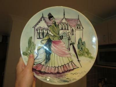 Large Vintage Martin Boyd Pottery ~ Hand Painted Plate ~ Signed To Base